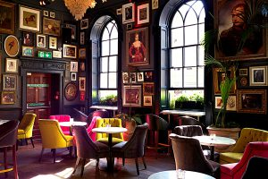 image of upholstered chairs in a pub/commercial environment