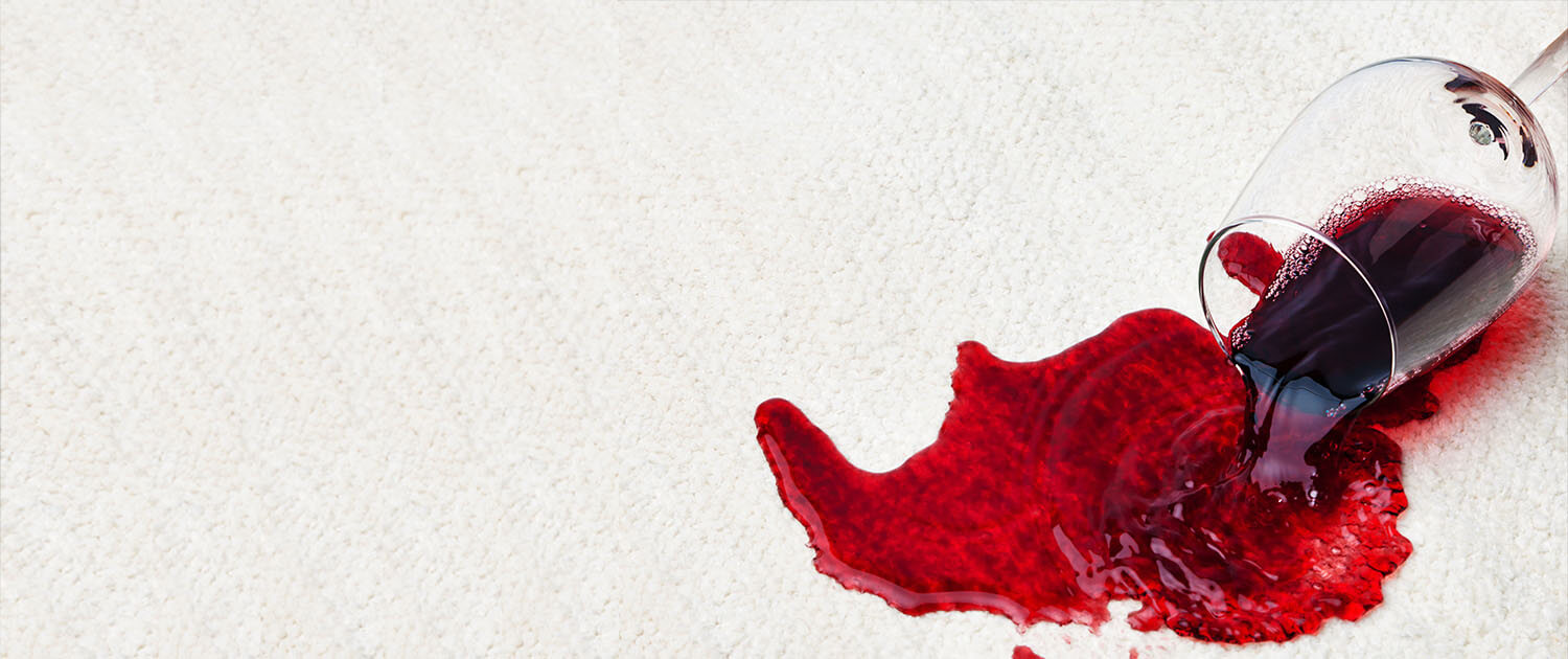 Tip for removing red wine stains from carpet